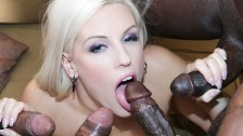 Scorching babe gangbang with dark skinned dongs she likes to get booty porked